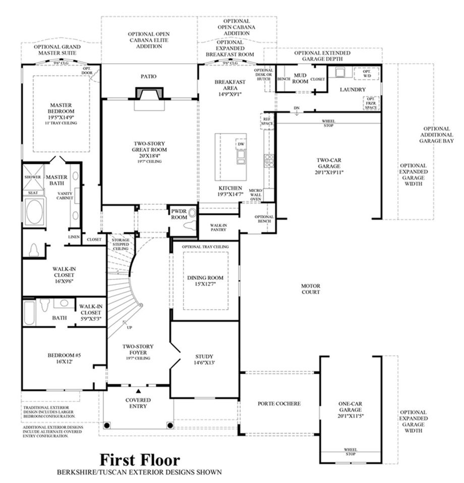 1st Floor Floor Plan Driveway Design Luxury Homes Dream House Plans