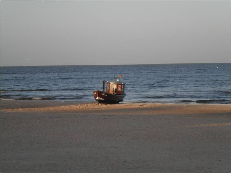 Usedom 2013, Boot bei Ahlbeck