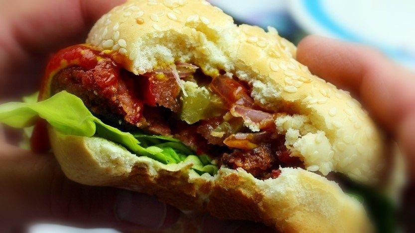 Diy Impossible Burger 2 0 Recipe Make It At Home Planted365 Recipe Impossible Burger Burger Vegitarian Recipes