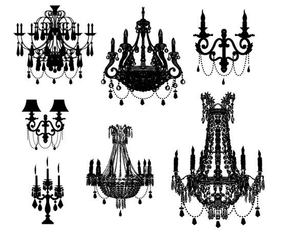 0 Images About Crystal Lamp On Chandeliers Clipart Image