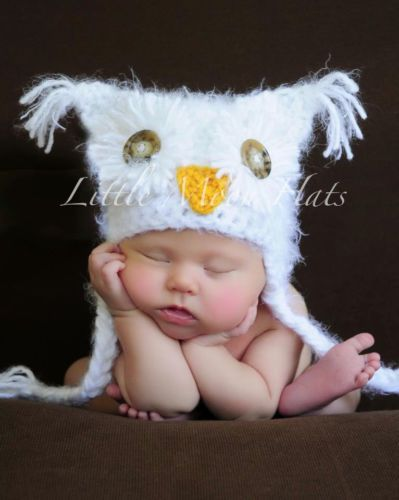 Newborn baby snow owl hat photography prop ebay