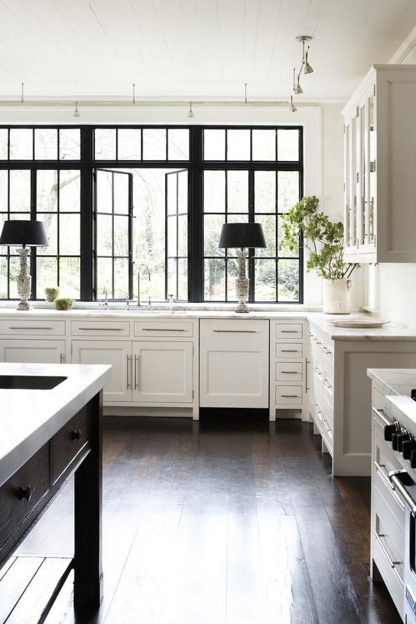A Clic Style With Touch Of Modern I Think M Just Little Smitten By This Atlanta Geor Beautiful White Kitchen Black Frame