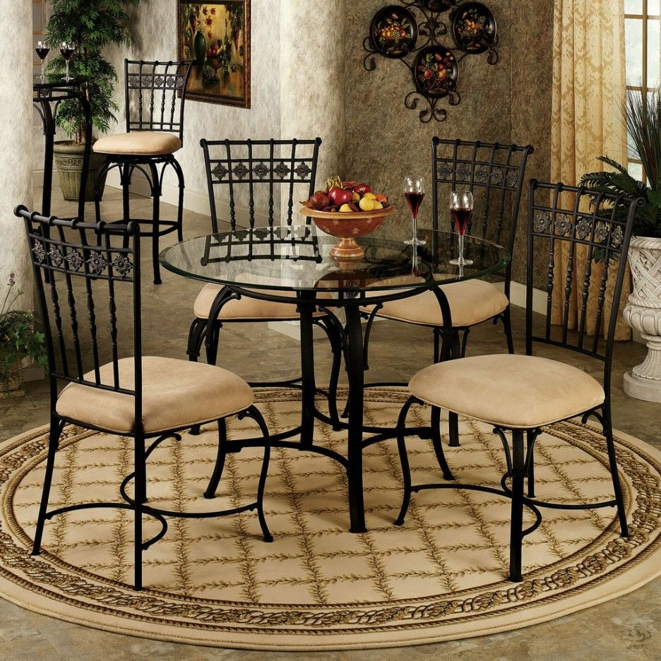 Dining Room Ideas Fancy Clic Black Chair And Round Gl Table Elegant Cool Carpet Brown Floor Tile Wall