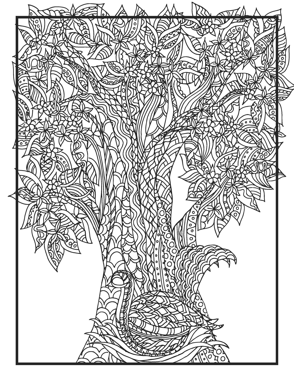 Simple Print Your Own Coloring Book 98 DIY Zendoodle Bird