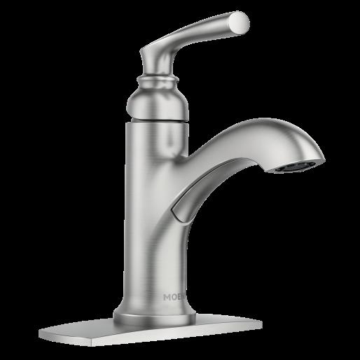 Hilliard Spot Resist Brushed Nickel One Handle High Arc Bathroom