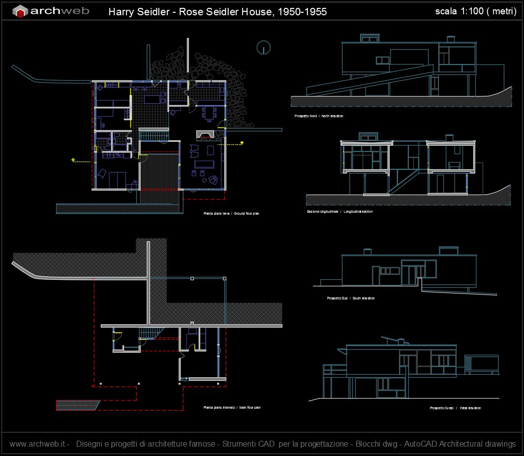 Fiori 3d Archweb.Rose Seidler House 1950 1955 Harry Seidler Archweb Autocad