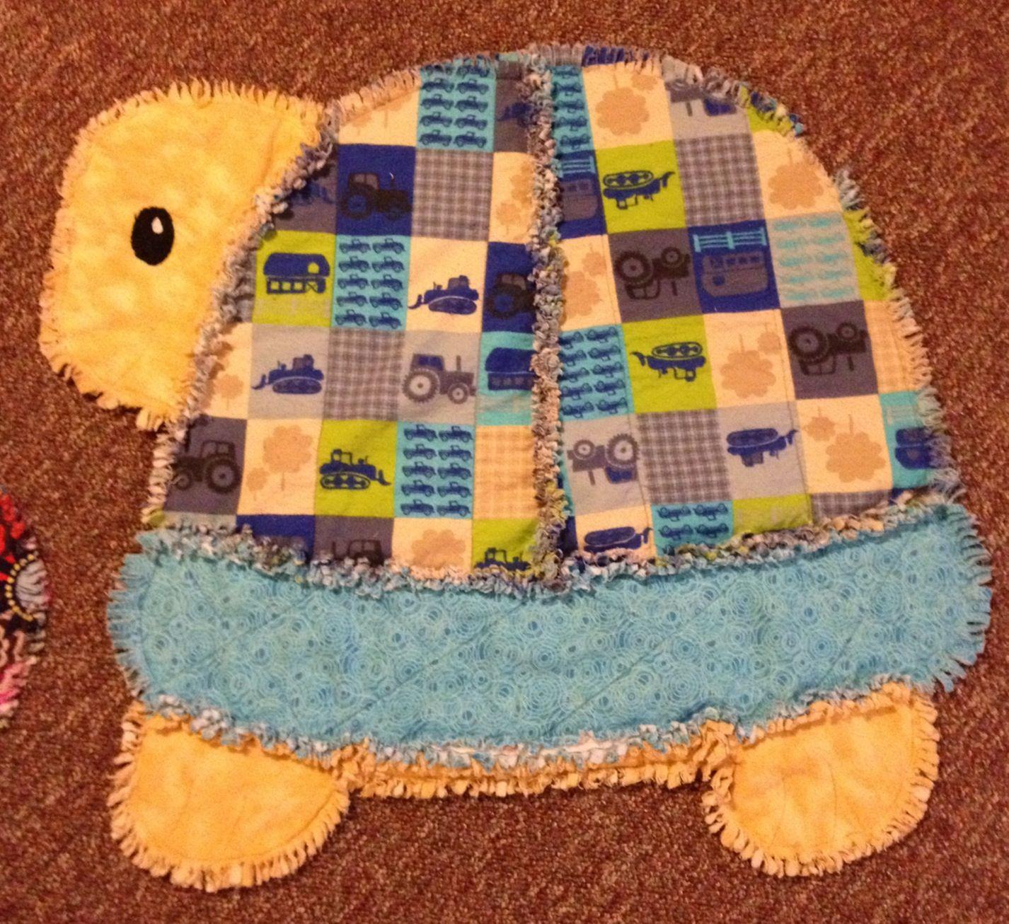 Turtle rag quilt. Approx 30inX30in. :) -JA- | I made this! Yep, me ... : turtle rag quilt - Adamdwight.com