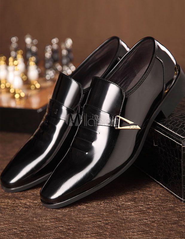 0e9332d5cec Brown señaló Toe PU zapatos de vestir para hombres