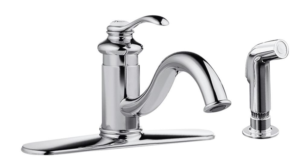 Fairfax singlecontrol kitchen sink faucet in polished