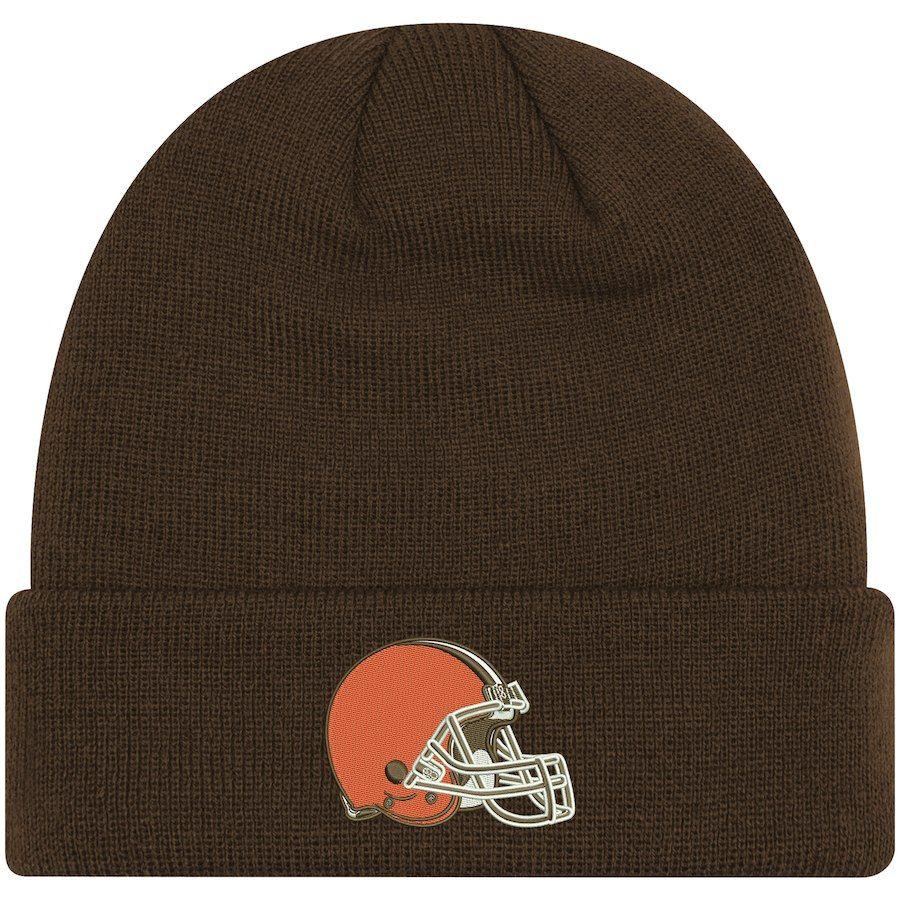 de2b37403 Toddler Cleveland Browns New Era Brown Basic Cuffed Knit Hat