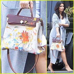 f1f9709062 See the Hermes Handbag North West Painted for Kim Kardashian s Birthday  Gift!  hermeshandbags