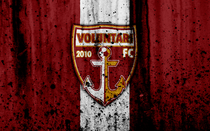 футбол 1 Wallpaper: Download Wallpapers 4k, FC Voluntari, Grunge, Romanian