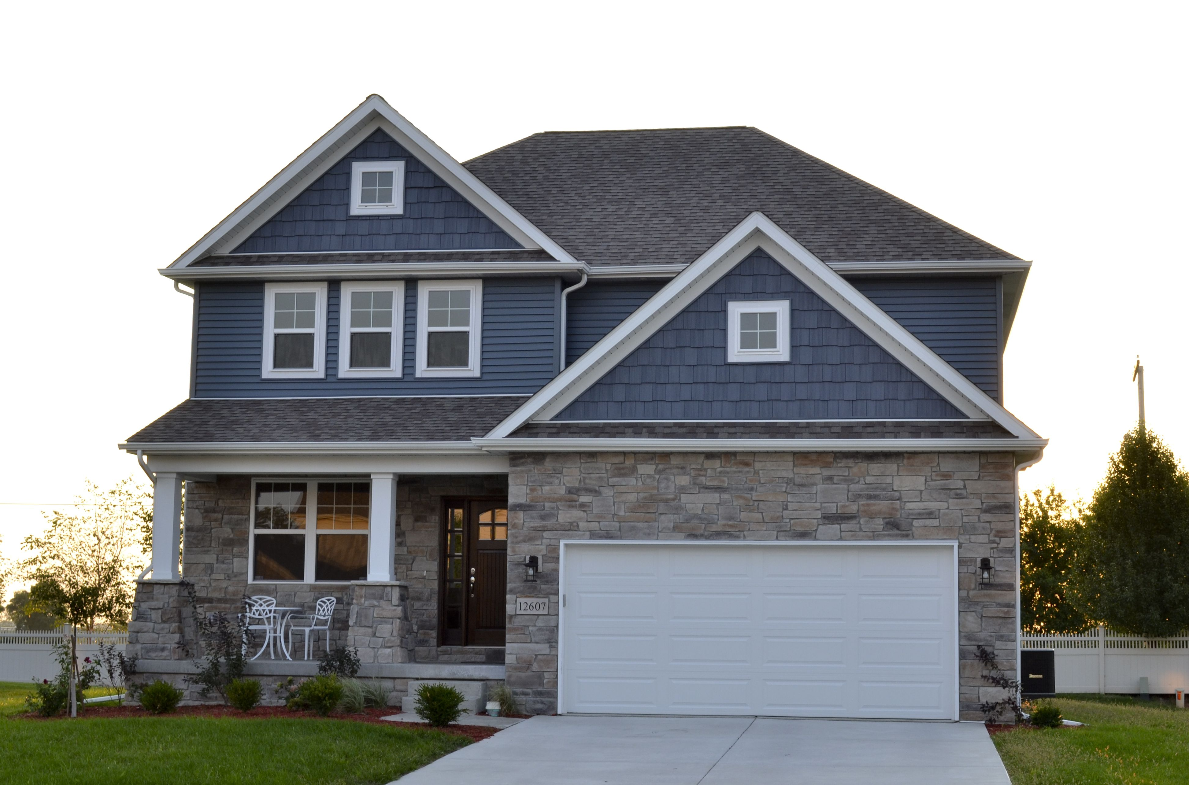 Cute blue two story - by Steiner Homes LTD. | House colors ...