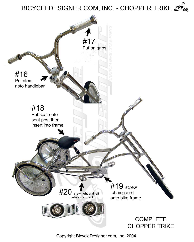 Chopper Bicycle Trike Chopper Trike Assembly Page