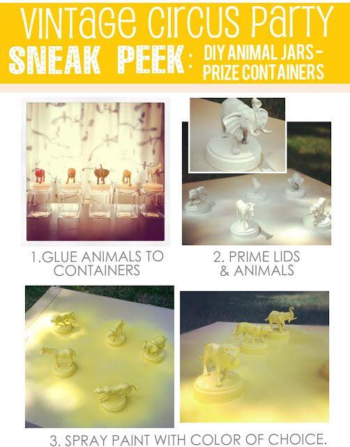 DIY animal toy jars