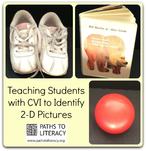 Guidelines to help children with CVI to make the transition from 3-D objects to 2-D pictures
