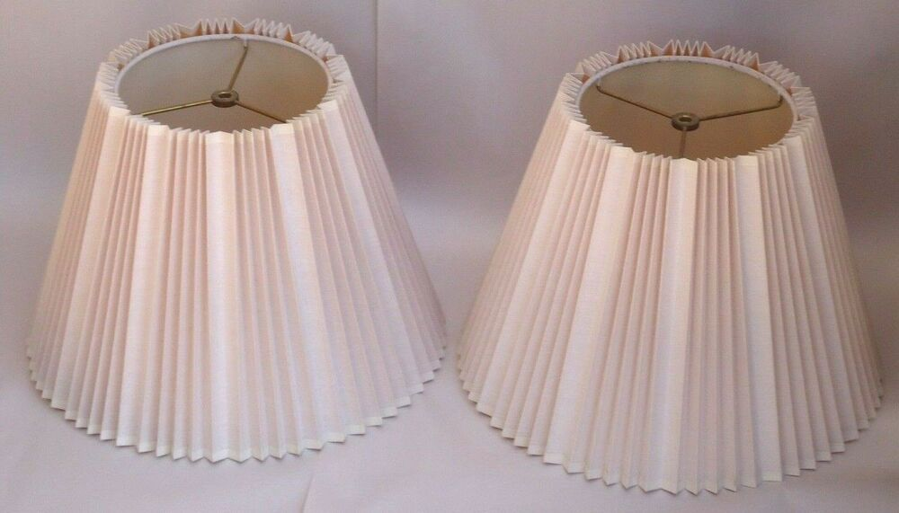 Pair Vintage Stiffel Pleated Accordion Lamp Shade