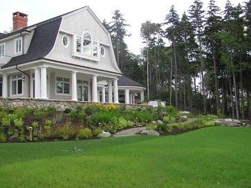 Landscaping Hills Ideas Design Ideas Pictures Remodel And Decor Page 10 Dutch Colonial Homes Gambrel Roof Sloped Backyard