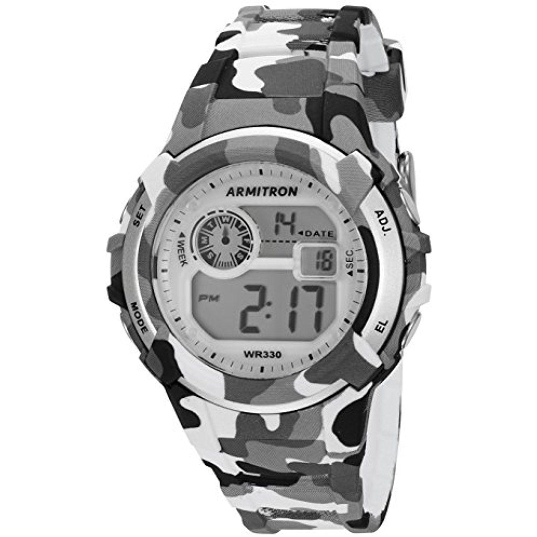 Armitron Sport Unisex 45/7059CGY Digital Grey and Black