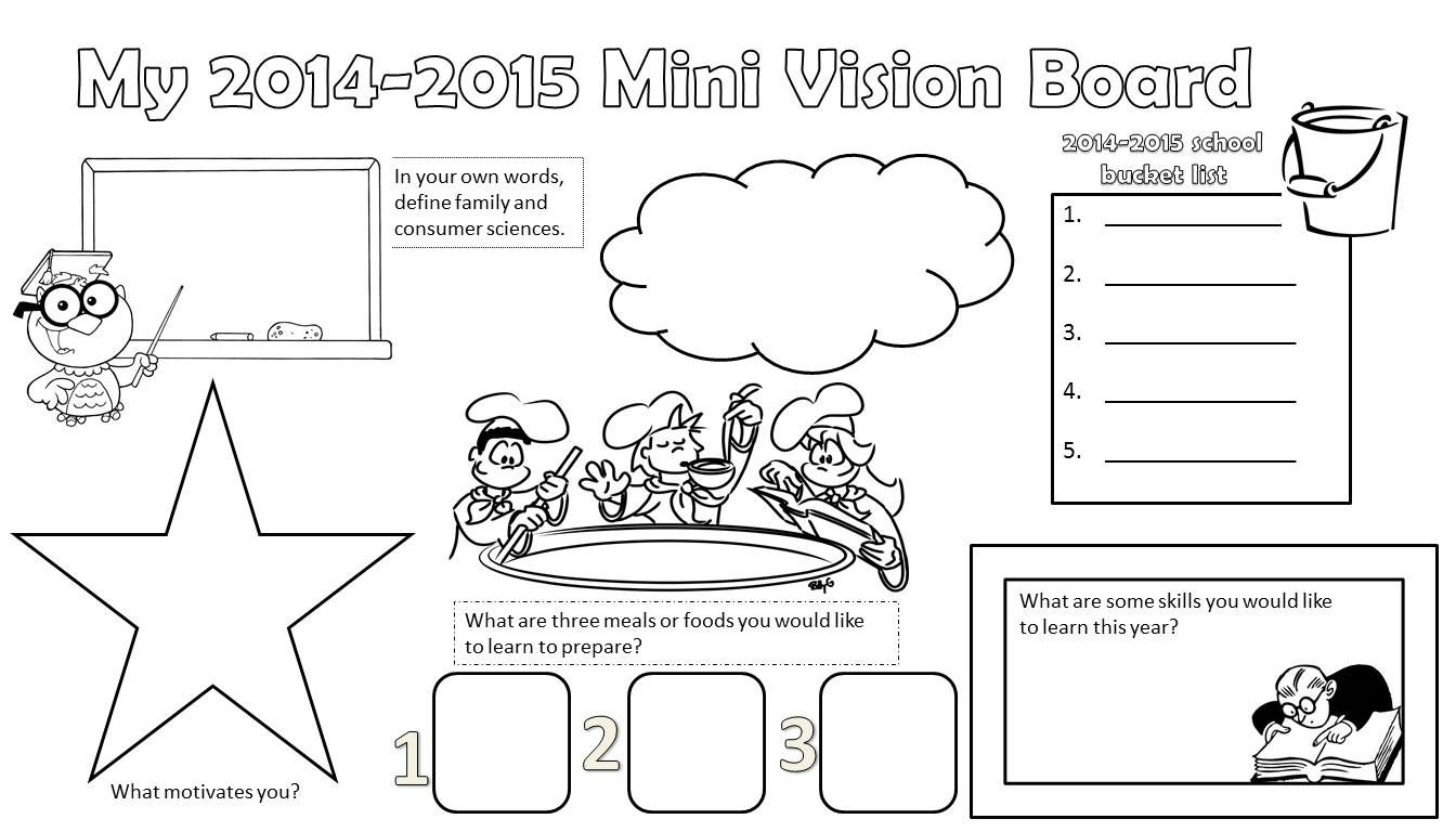 Mini Vision Board For Facs Justfacs My Classroom