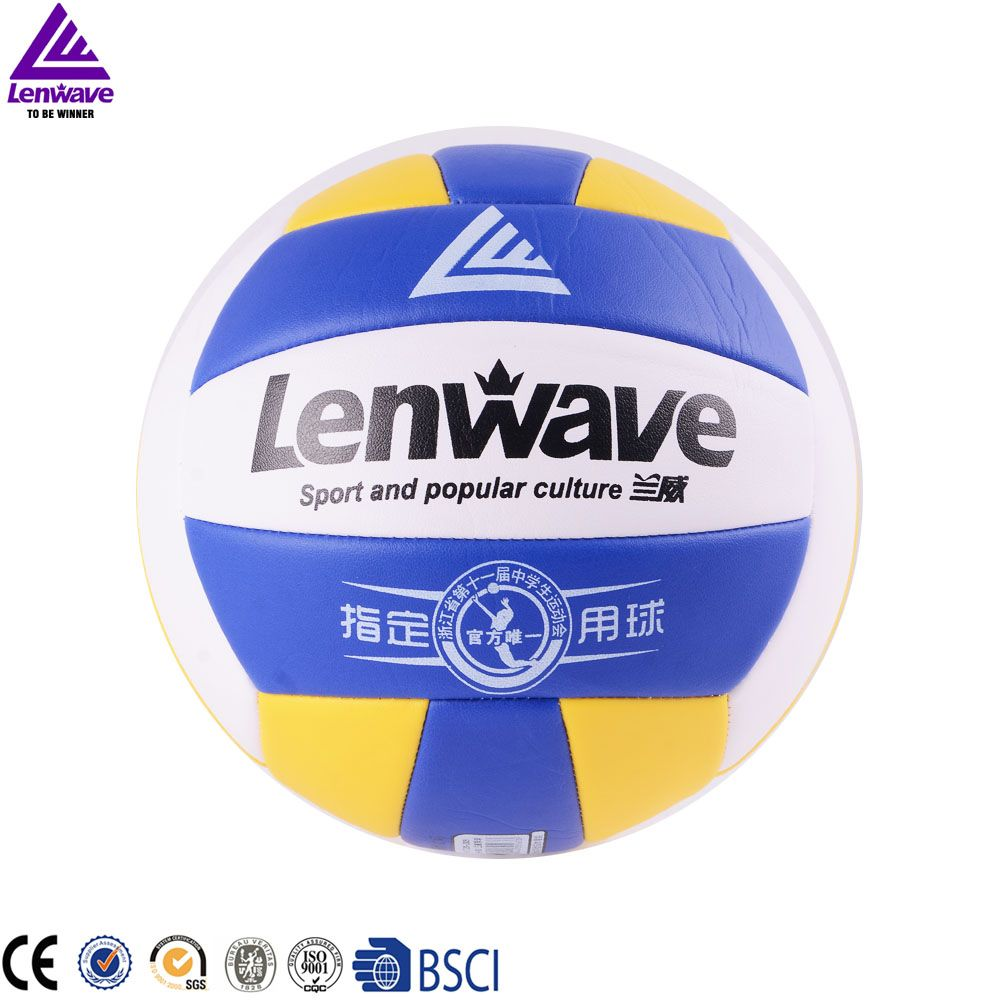 Free Shipping Official Size 5 Sand Beach Volleyball Ball Lenwave Brand Outdoor Indoor Sports Training Volley Ball Beach Volleyball Volleyball Net Size Sports