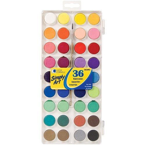 Loew Cornell Simply Art Watercolor Paint Cakes 36 Pack