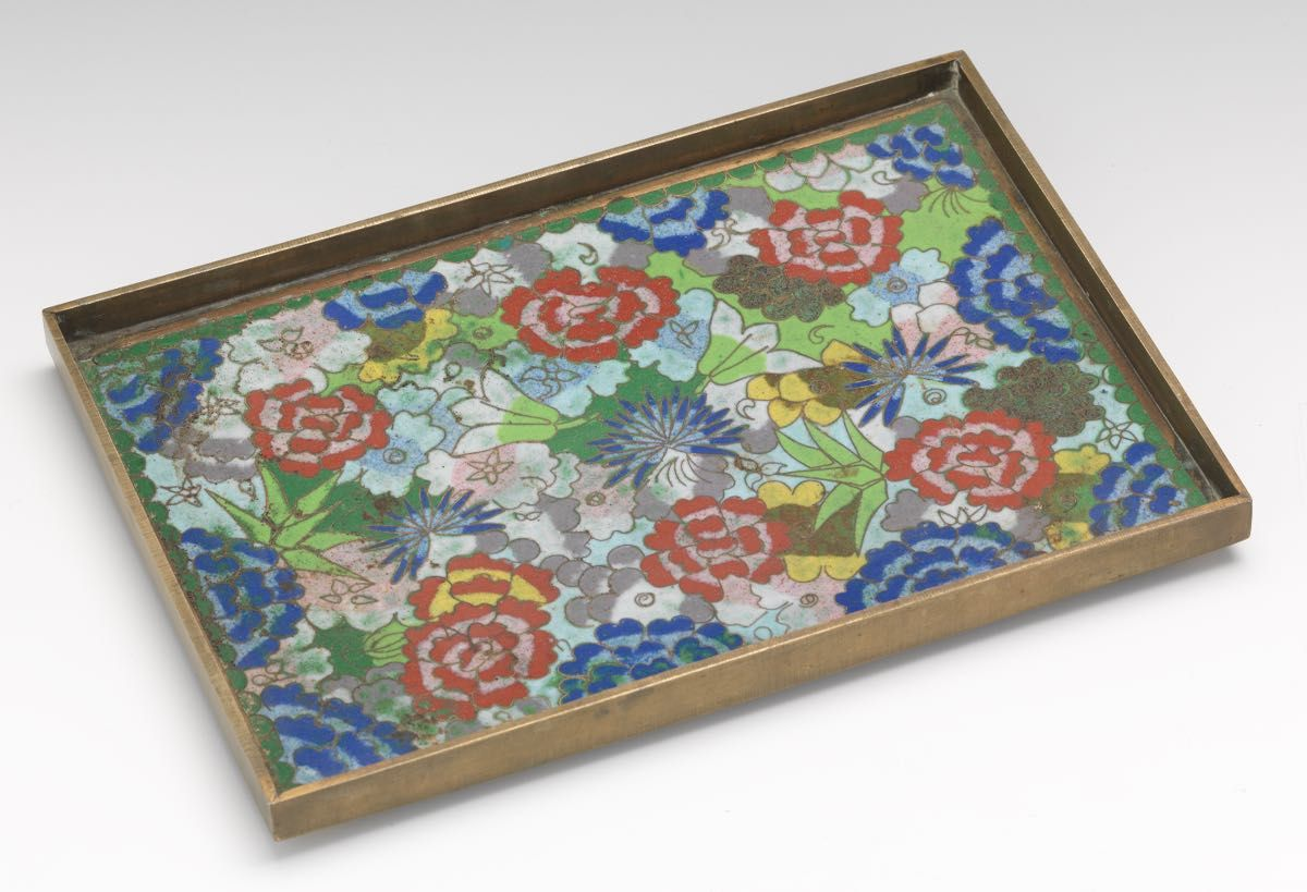 Chinese Cloisonne Tray