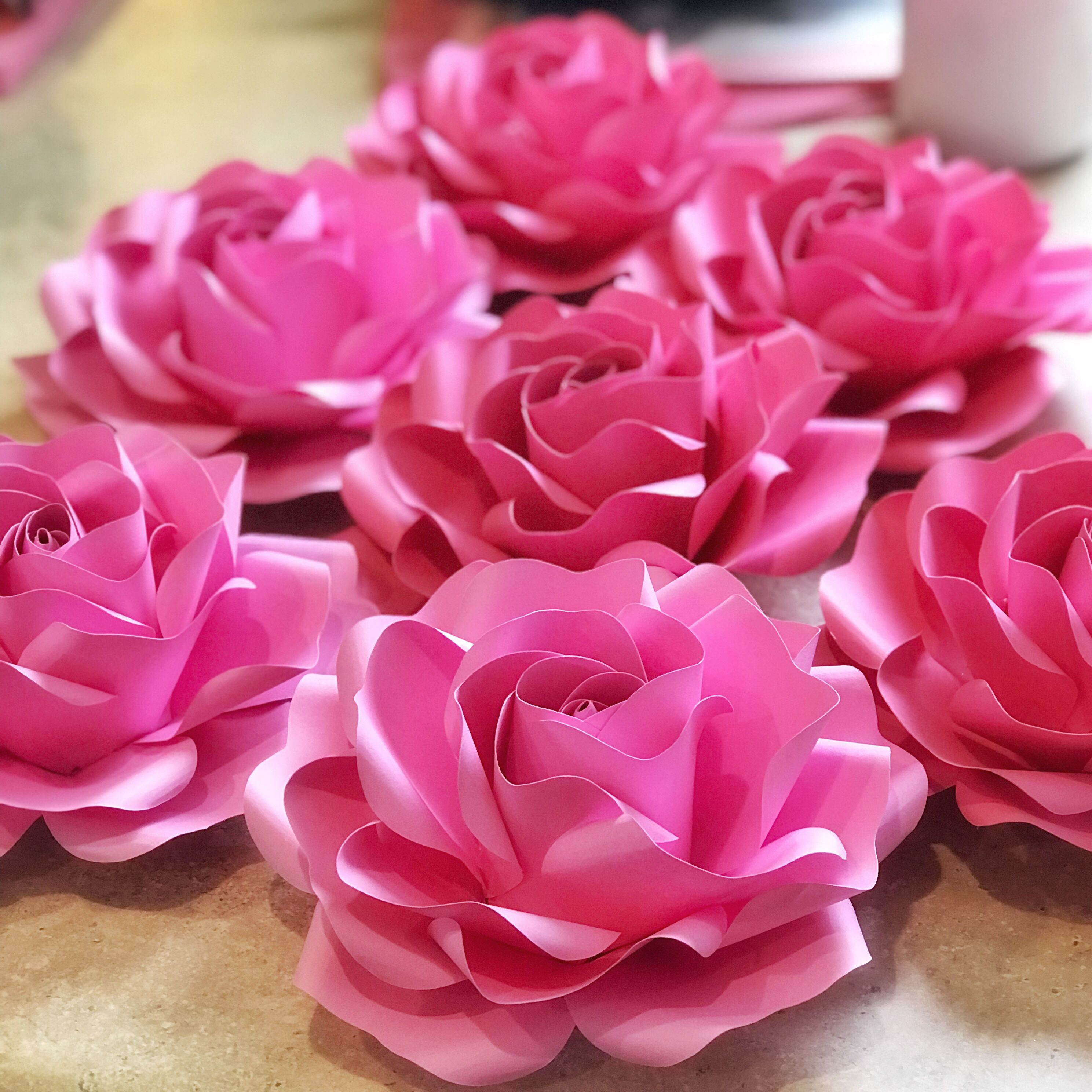 New Baby Rose Template In 5 Different Sizes Paper Flower Templates