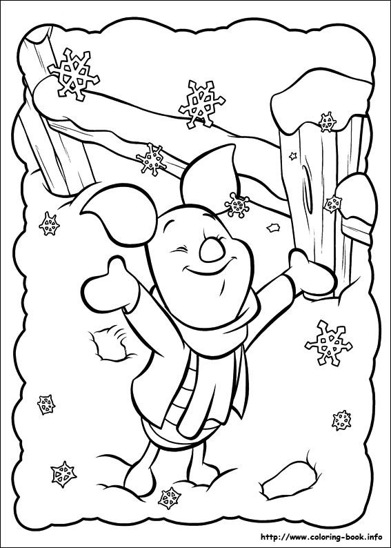 Piglet Coloring Picture Coloring Pages Christmas Coloring Pages Disney Coloring Pages