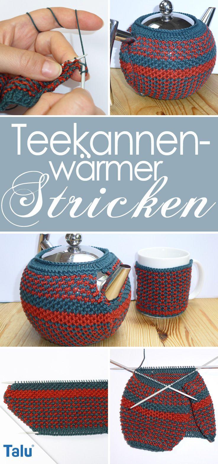 Teekannenwärmer Stricken Anleitung Für Einen Kannenwärmer