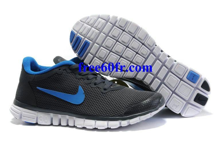 Yae7621 Nike Free 3.0 V2 Femme Chaussures De Course Gris Foncé Royal