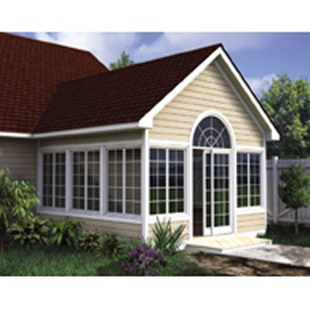 Gabled Sun Room Addition For One Two Story Homes Printed Plan In 2021 Home Addition Plans Three Season Porch Four Seasons Room