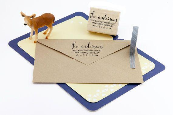 T37 Custom Address Stamp Personalized Rubber Stamp Return Address Stamp Wedding  /& Housewarming Gift Self Inking Stamp Wood Stamp
