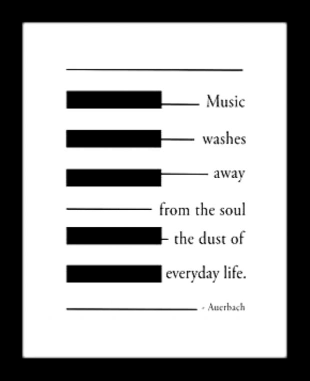 Quote Word Art Typography Motivation Music Washes Auerbach Canvas Art Print