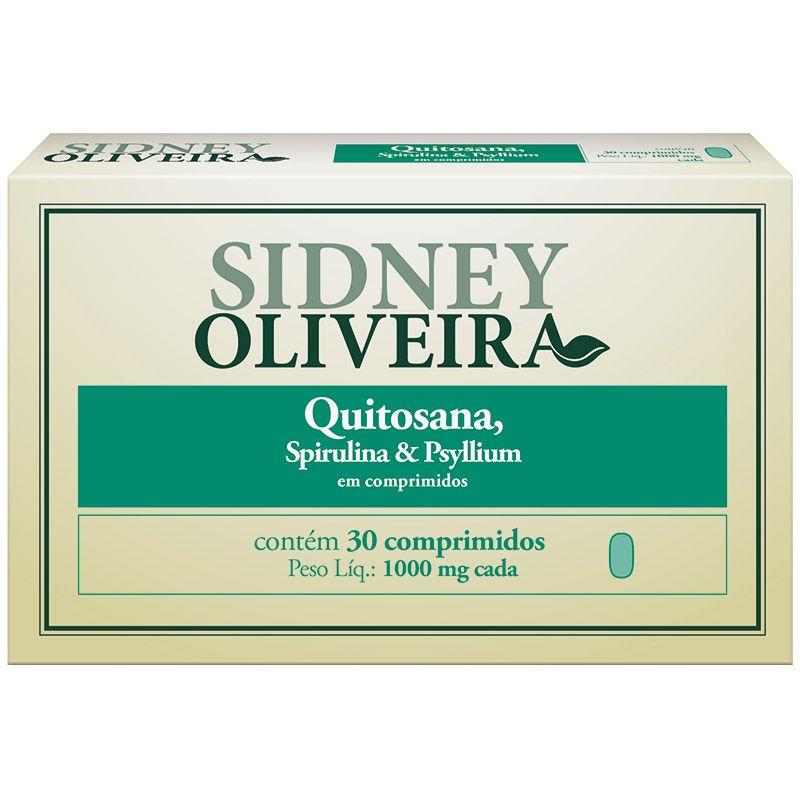 a708b1ece Quitosana + Spirulina + Psyllium 1000mg - Sidney Oliveira 30 Comprimidos -  Ultrafarma