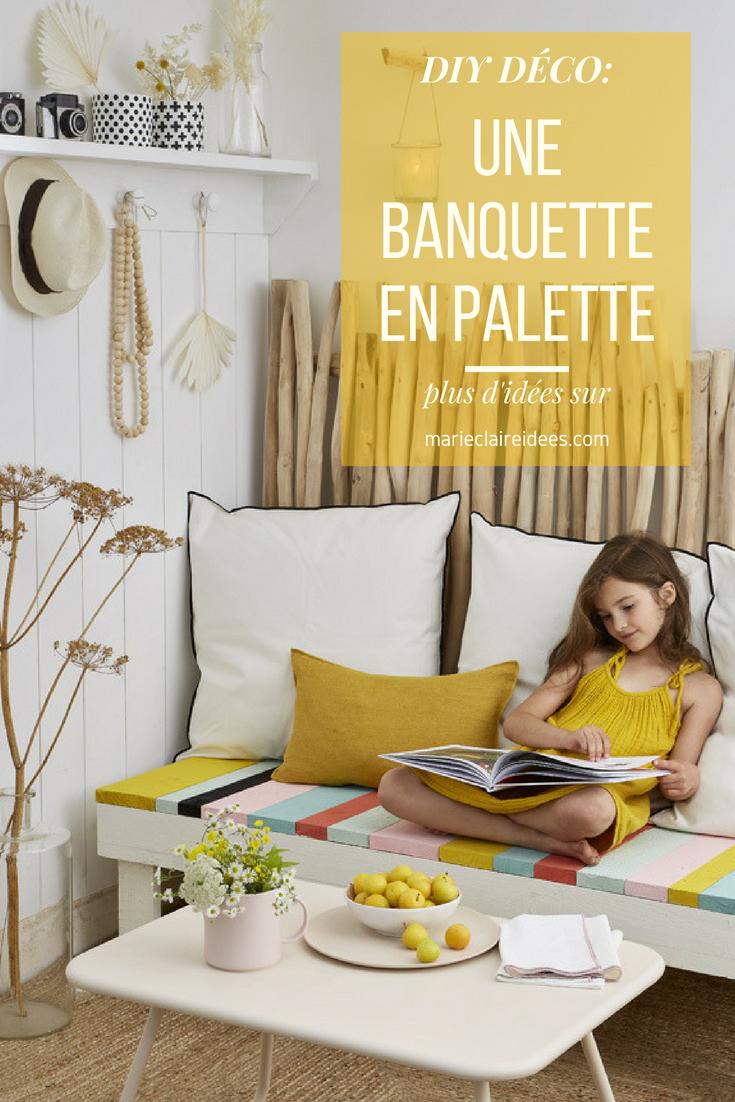 Banquette En Bois Pour Salon à créer une banquette en bois pour un salon estival | pallets