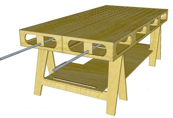 My home built portable assembly table - The Garage Journal ...