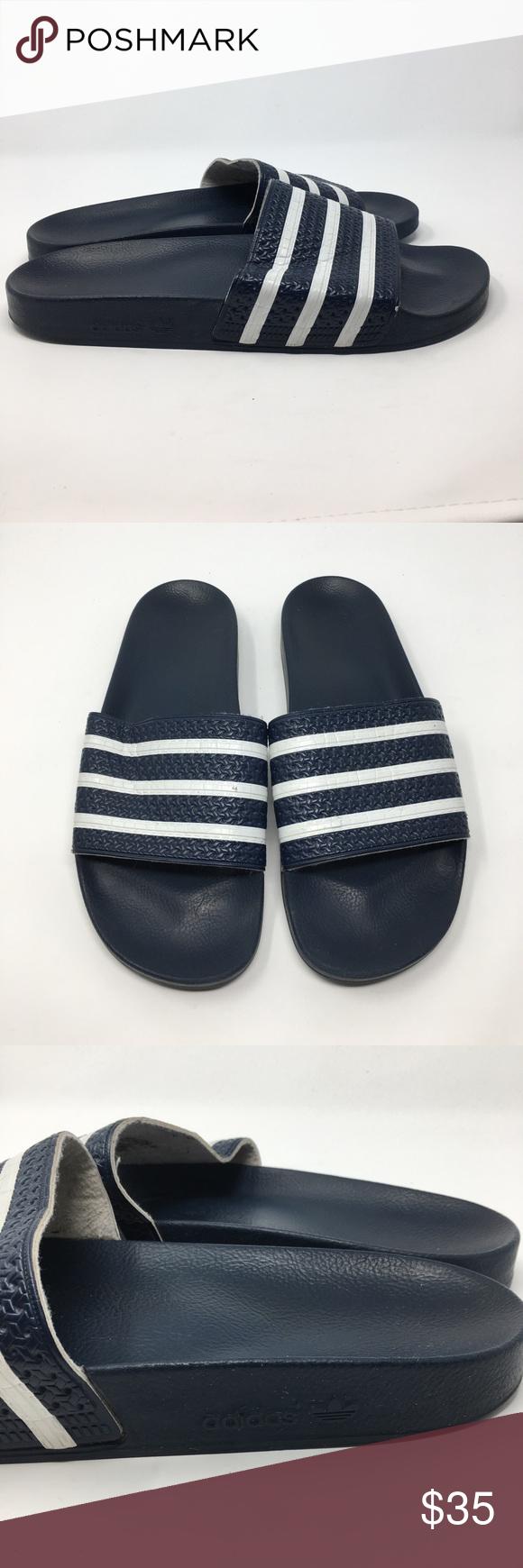 f7a6cdf07e8b78 Adidas Adilette Slides. Size 13 Adidas Adilette Slides. Navy. Men s size  13. Overall good condition! adidas Shoes Sandals   Flip-Flops