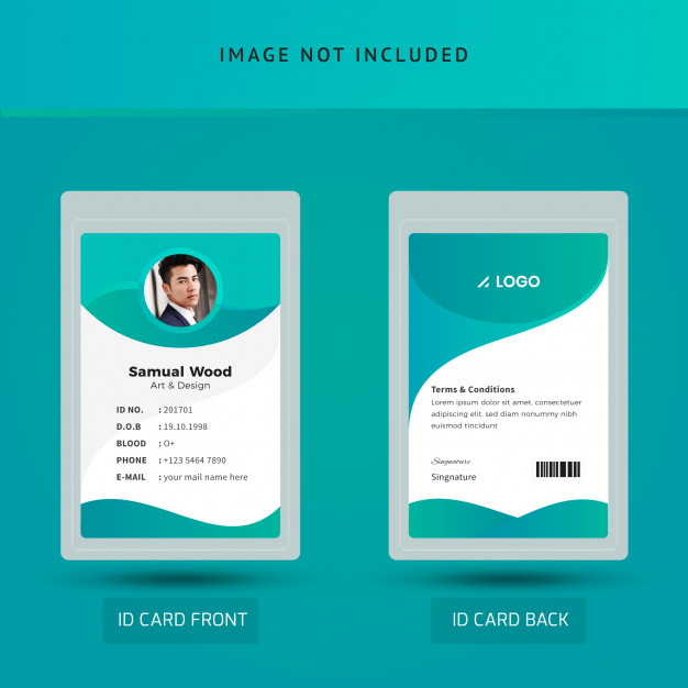 Office Staff Id Card Template Id Card Template Identity Card Design Business Card Design Creative