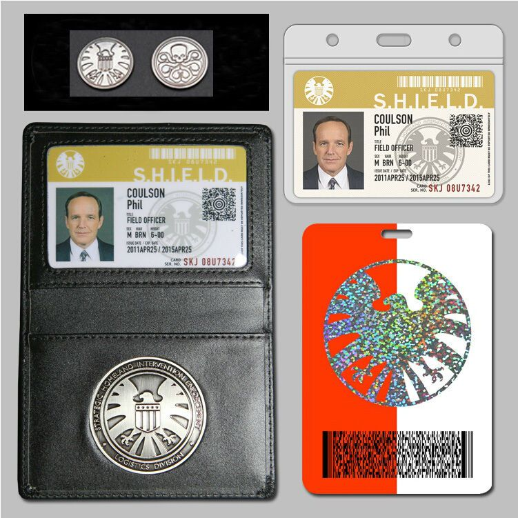 Agents Of S H I E L D Shield Badge In Holder Phil Coulson S 2 Cards Free Coin Agents Of Shield Marvel Shield Phil Coulson