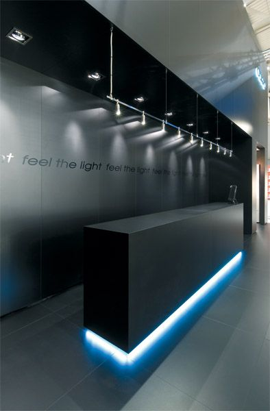 Black And Light With Images Reception Desk Design Office Interior Design Office Interiors