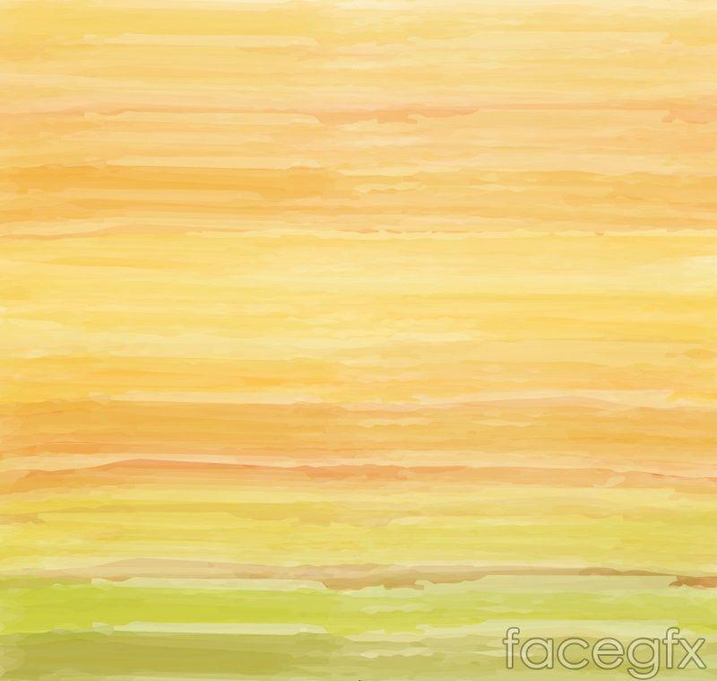 Orange graffiti watercolor background vector