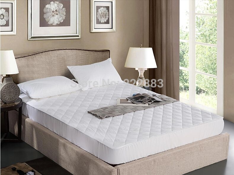 New Arrival 160 200cm Cotton Quilted Waterproof Mattress Pad Non