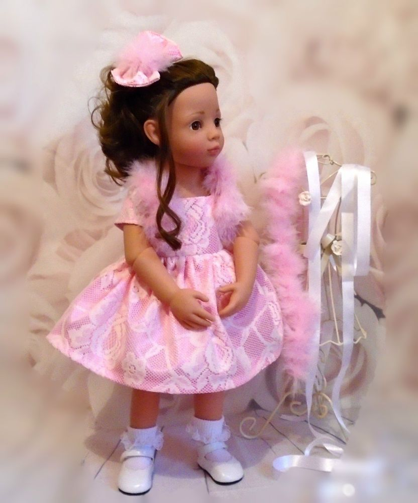 dress bolero/ hair bow Gotz Hannah/happy Kidz/designafriend dolls by Vintagebaby