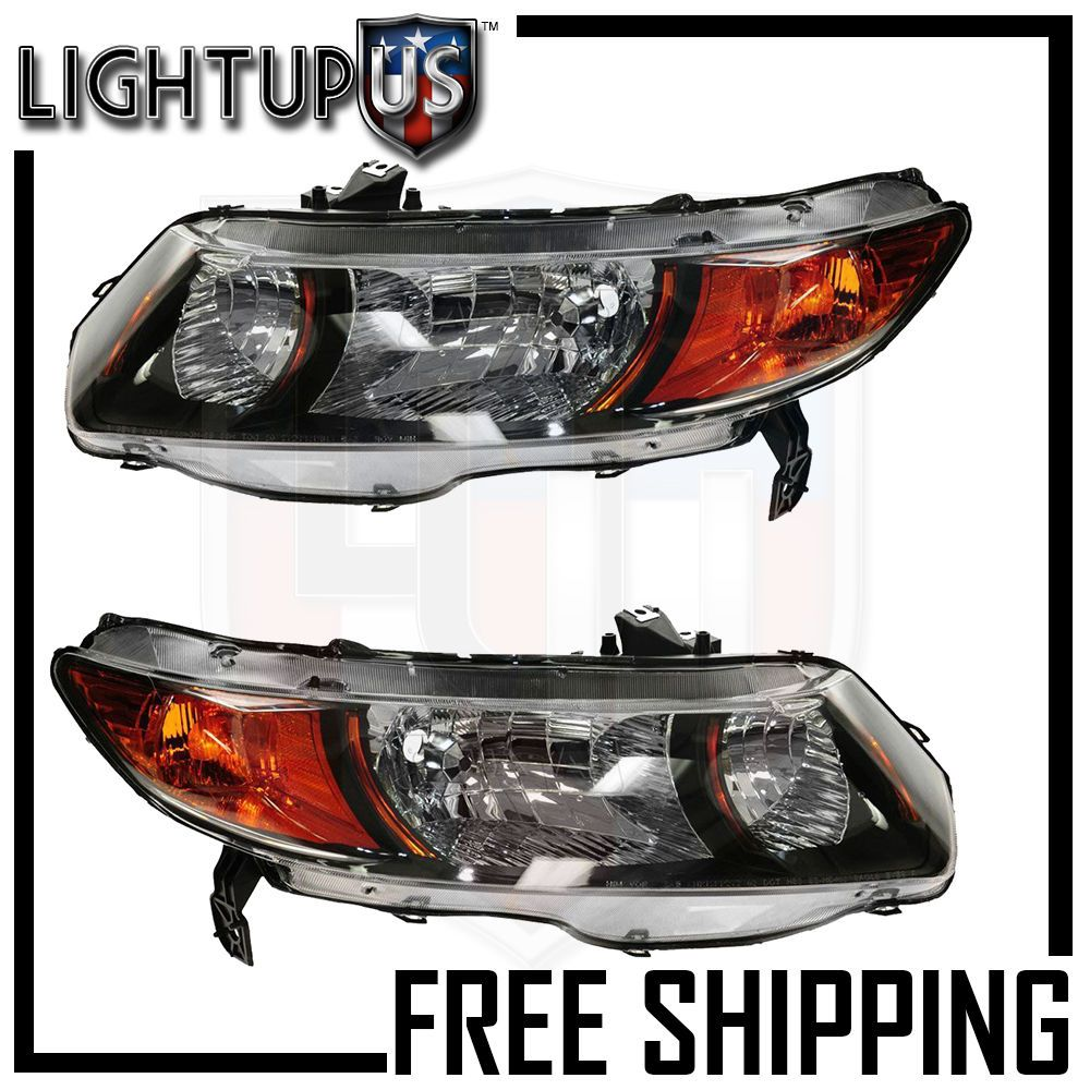 Headlights Headlamps Pair Left Right Set For 06 09 Honda Civic Si Coupe 2 Door Honda Civic Si Honda Civic Headlights Honda Civic