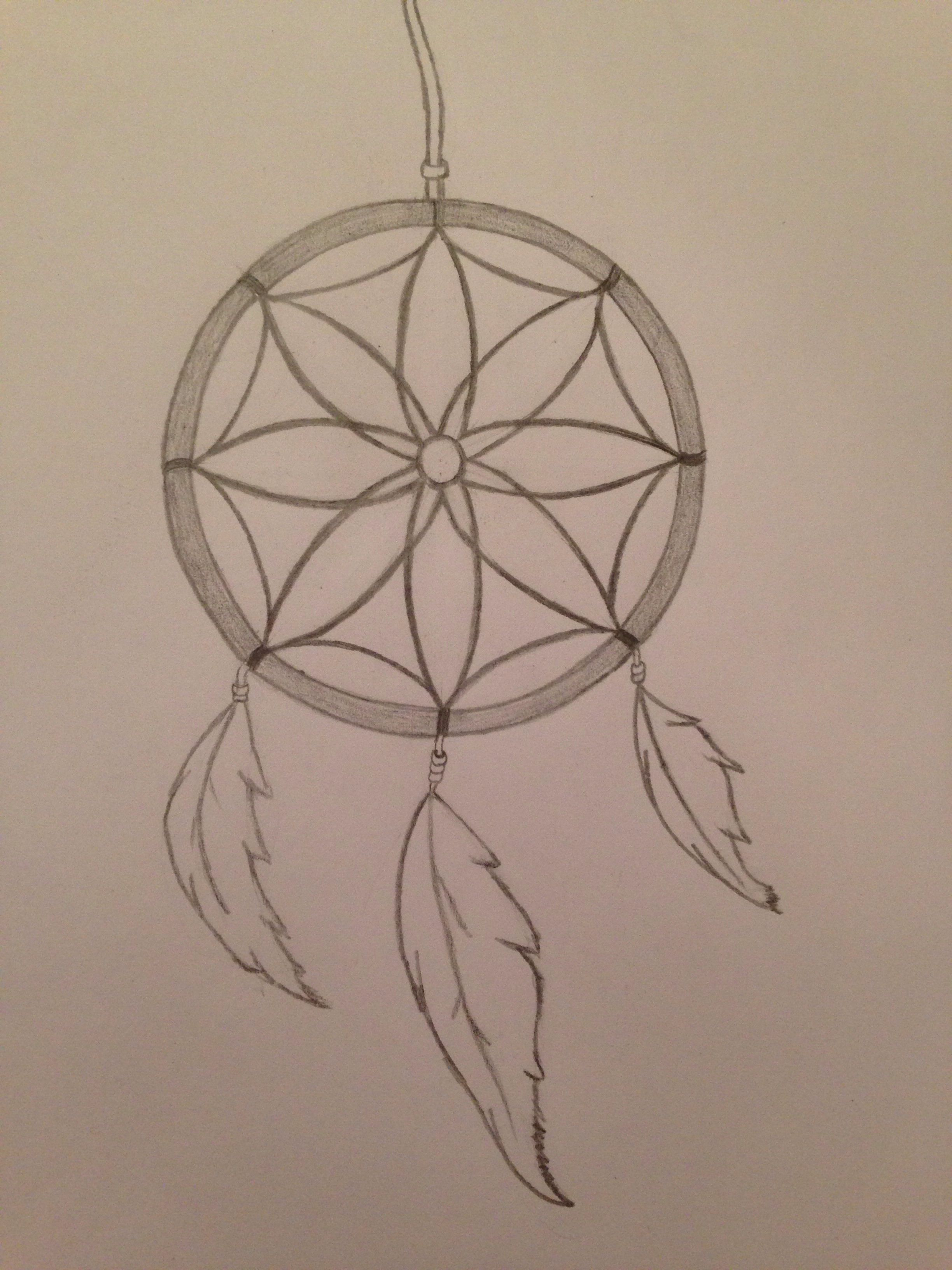 Simple Dream Catcher Drawing : simple, dream, catcher, drawing, Drawn, Dream, Catcher, Drawing,, Dreamcatcher, Tattoo, Small
