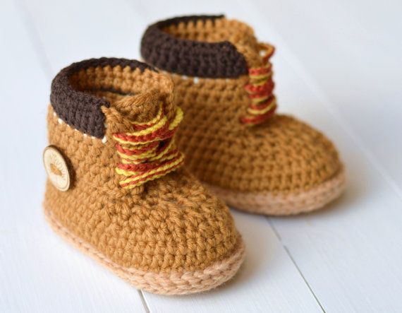CROCHET PATTERN Boots for Baby Boys Timberland by matildasmeadow ...