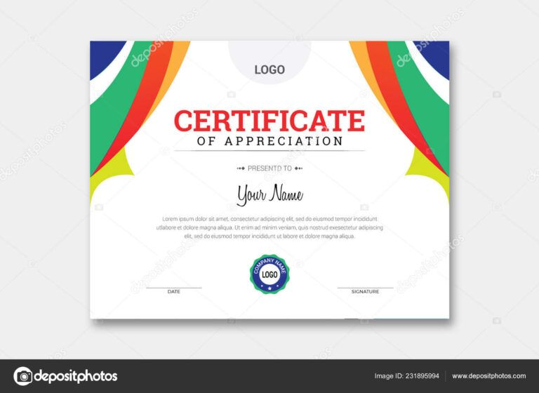 Comp Card Template Psd | Abstract Certificate Template ...
