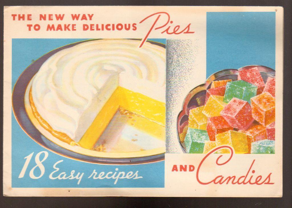 Advintage Plus - 1934 Knox Sparkling Gelatine Recipe Brochure Pies and Candies, $9.00 (http://www.advintageplus.com/1934-knox-sparkling-gelatine-recipe-brochure-pies-and-candies/)