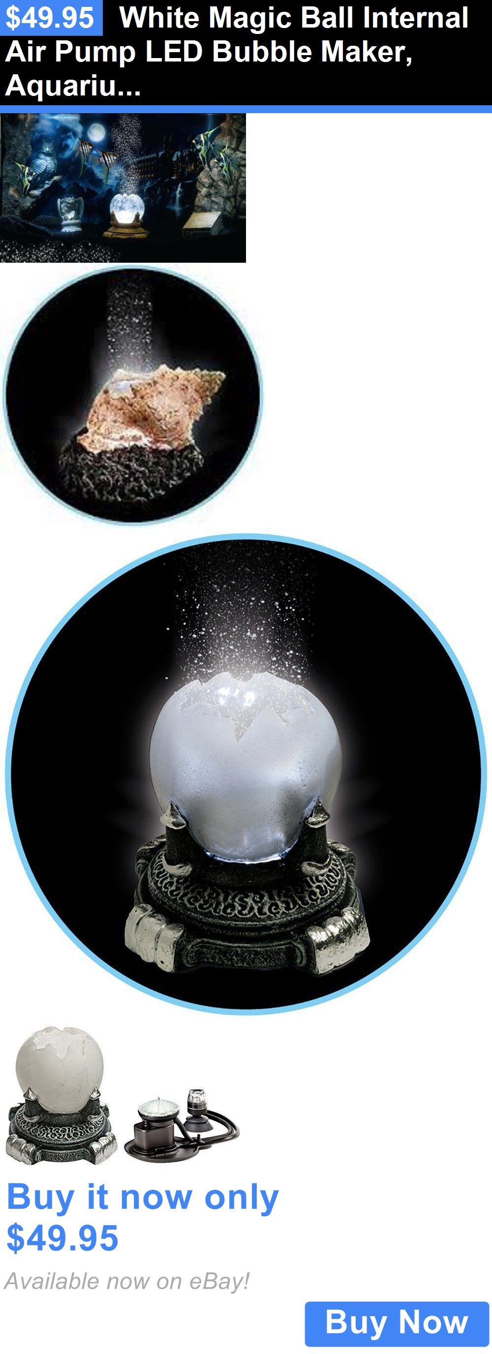 Animals Fish And Aquariums White Magic Ball Internal Air Pump Led